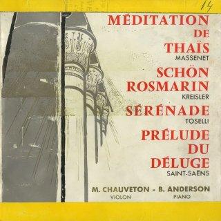 マスネ:タイスの瞑想曲,クライスラー:美しきロスマリン,トセッリ:セレナーデ,他