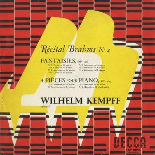 「ブラームス・リサイタルVol.2」ブラームス:幻想曲集Op.116,4つの小品Op.119