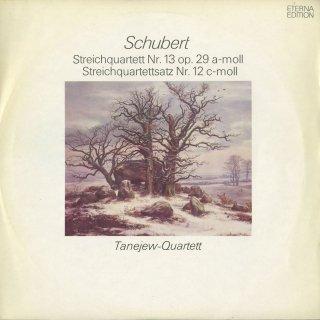 シューベルト:弦楽四重奏曲13番「ロザムンデ」,12番「断章」