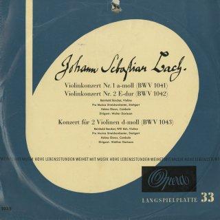 バッハ:ヴァイオリン協奏曲1番B.1041,2番K.1042,2ヴァイオリン協奏曲B.1043