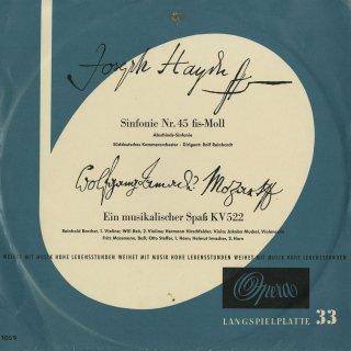 ハイドン:交響曲45番「告別」,モーツァルト:音楽の冗談K.522