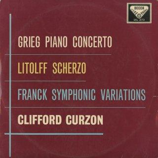 グリーグ:ピアノ協奏曲,フランク:交響変奏曲,リトルフ:交響的協奏曲4番〜スケルツォ