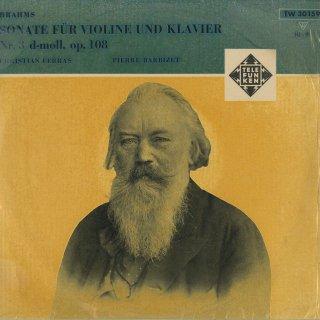 ブラームス:ヴァイオリン・ソナタ3番Op.108