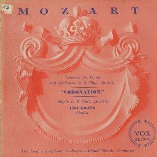 モーツァルト:ピアノ協奏曲26番「戴冠式」K.537,アダージョK.540