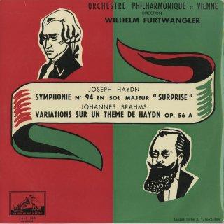 ハイドン:交響曲94番「驚愕」,ブラームス:ハイドン変奏曲Op.56a