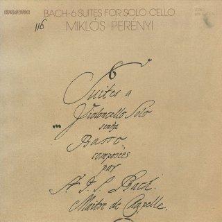 バッハ:6つの無伴奏チェロ組曲B.1007〜1012