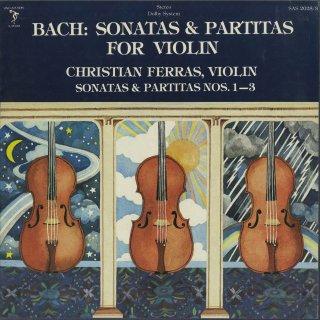 バッハ:6つの無伴奏ヴァイオリン・ソナタB.1001〜1006