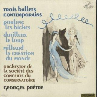 「フランス現代バレエ音楽集」プーランク:組曲「牝鹿」,デュティユー:狼,ミヨー:世界の創造