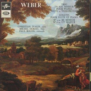 ウェーバー:ピアノ・フルート・チェロトリオOp.63,フルート・ソナタ3,6番