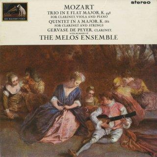 モーツァルト:クラリネットトリオK.498,クラリネット五重奏曲K.581