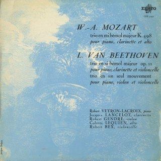 ピアノトリオ集/モーツァルト:K.498,ベートーヴェン:4,8番
