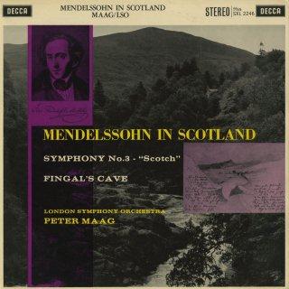 メンデルスゾーン:交響曲3番「スコットランド」Op.56,序曲「フィンガルの洞窟」Op.26