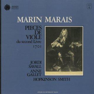 「マレ:ヴィオール曲集第2巻」スペインのフォリア,人間の声,組曲(12曲)