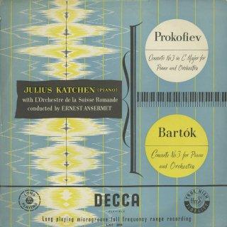 ピアノ協奏曲集/プロコフィエフ:3番Op.26,バルトーク:3番