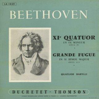 ベートーヴェン:弦楽四重奏曲11番Op.95「セリオーソ」,大フーガOp.133
