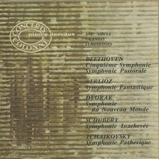 ベートーヴェン:交響曲6番Op.68「田園」,交響曲5番Op.67「運命」,シューベルト:交響曲8番「未完成」,ベルリオーズ:幻想交響曲Op.14,ドヴォルザーク:交響曲9番Op.95「新世界」