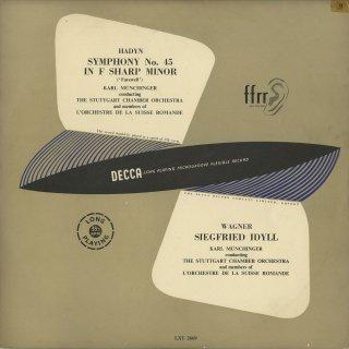 ハイドン:交響曲45番「告別」,ワーグナー:ジークフリートの牧歌