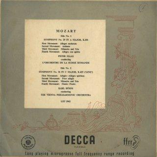 モーツァルト:交響曲29番K.201,36番K.425「リンツ」