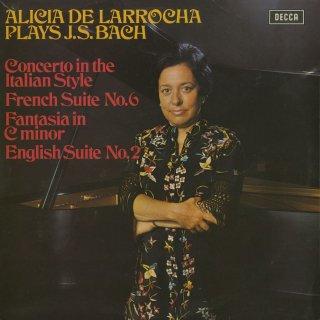 バッハ:イタリア協奏曲,フランス組曲6番,イギリス組曲2番,幻想曲BWV.906