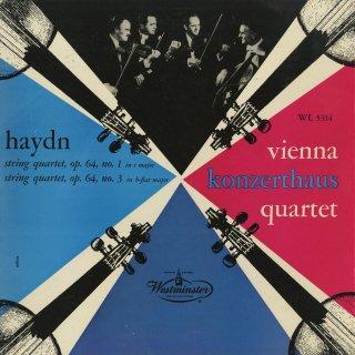 ハイドン:弦楽四重奏曲63番Op.64−1,65番Op.64−3