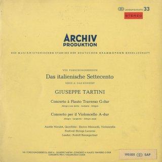 タルティーニ:フルート協奏曲,チェロ協奏曲