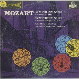 モーツァルト:交響曲32,38番K.318,504「プラハ」