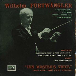 リスト:交響詩「前奏曲」,ワーグナー:ローエングリン〜前奏曲,タンホイザー〜序曲