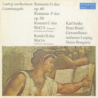 ベートーヴェン:ロマンス1番Op.40,2番Op.50,ヴァイオリン協奏曲WoO.5(未完1楽章のみ),ロンドWoO.6