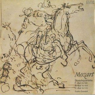 モーツァルト:弦楽四重奏曲8番K.168,9番K.169,10番K.170