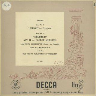 ワーグナー:リエンツィ序曲,ジークフリート〜森のささやき