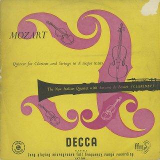 モーツァルト:クラリネット五重奏曲K.581