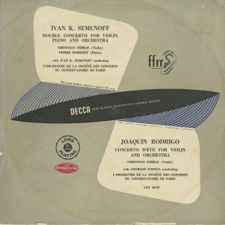 セメノフ:二重協奏曲,ロドリーゴ:夏の協奏曲