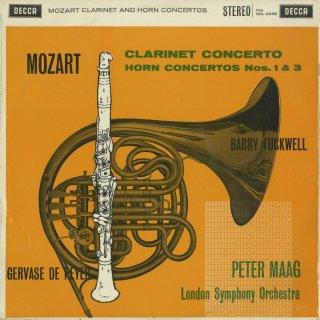モーツァルト:クラリネット協奏曲K.622,ホルン協奏曲1番K.412,3番K.447