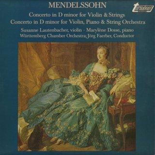 メンデルスゾーン:ヴァイオリン・ピアノと弦楽のための協奏曲,ヴァイオリン協奏曲ニ短調(遺作)