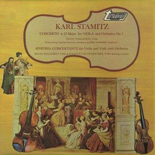 シュターミッツ:ヴィオラ協奏曲Op.1,協奏交響曲