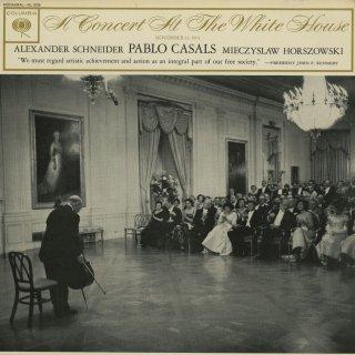 「ホワイトハウス演奏会」メンデルスゾーン:ピアノ・トリオOp.49,シューマン:アダージョとアレグロOp.70,カザルス:鳥の歌,クープラン