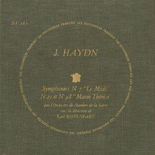 ハイドン:交響曲7,21,41番「マリア・テレジア」