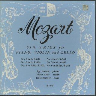 モーツァルト:ピアノトリオ(6曲)/K.254,496,502,542,548,564