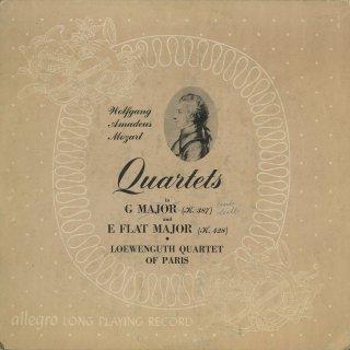 モーツァルト:弦楽四重奏曲14番K.387,16番K.428