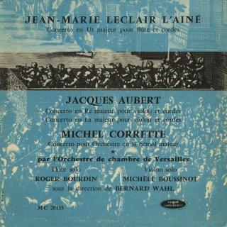 「フランス・バロック音楽集」ルクレール:フルート協奏曲,J.オーベール:ヴァイオリン協奏曲(2曲),コレット