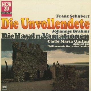 シューベルト:交響曲8番「未完成」,ブラームス:ハイドン変奏曲Op.56a