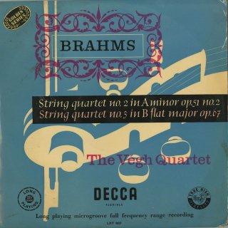 ブラームス:弦楽四重奏曲2番Op.51-2,3番Op.67