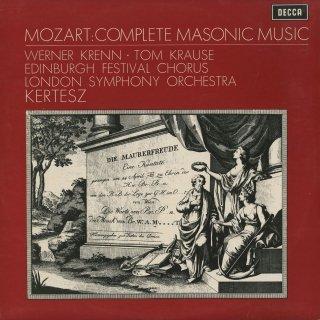 「モーツァルト:フリーメイソンのための音楽全集」おお・聖なる絆K.148,カンタータK.429,619,623,他全10曲