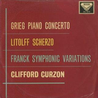 グリーグ:ピアノ協奏曲Op.16,フランク:交響変奏曲,リトルフ:交響的協奏曲4番Op.102〜スケルツォ