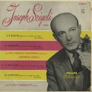 バッハ:ヴァイオリン協奏曲,タルティーニ:ヴァイオリン協奏曲,ヴァイオリン・ソナタ,ヘンデル:ヴァイオリン・ソナタ