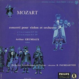モーツァルト:ヴァイオリン協奏曲2番K.211,5番K.219