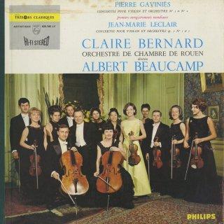 「バロック・ヴァイオリン協奏曲集」ガヴィニエス:2,5番,ルクレール:Op.7−1,5