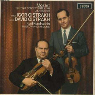 モーツァルト:協奏交響曲K.364,ヴァイオリンとヴィオラのための二重奏曲K.423