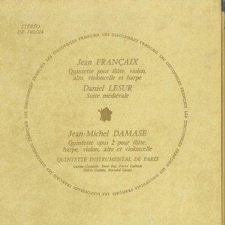フランセ:五重奏曲,ルシュール:中世風の組曲,ダマーズ:五重奏曲