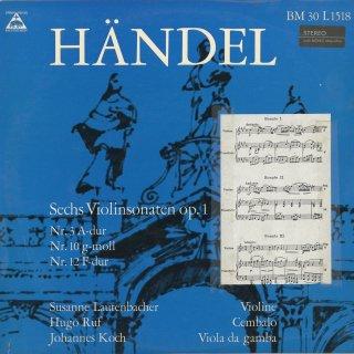 ヘンデル:ヴァイオリン・ソナタOp.1−3,10,12